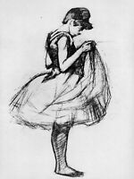 Henri Toulouse-Lautrec Dancer Fine Art Reproduction Print on Canvas Giclee Small