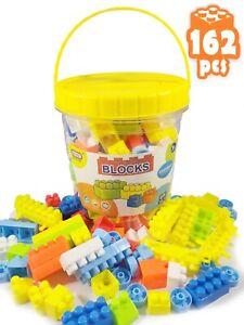 35-162PCS Educational Building Blocks Game Kids Plastic Bricks Construction Toy