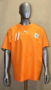 Maillot Cote D'Ivoire Puma Coupe du Monde 2006 #11 DROGBA taille XL