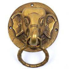 Elephant Head Brass Door Knocker Heavy Vintage