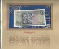 Most Treasured Banknotes Luxembourg 20 Francs 1966 UNC P 54a Prefix J