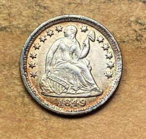 1849-O Seated Liberty Half Dime  XF/AU