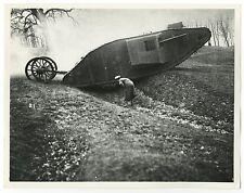 World War I - Vintage 8x10 Publication Photograph - Testing of Tanks