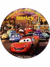 "Cars Lightning McQueen 7.5"" Rice Paper Birthday Cake Topper"