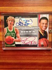 2008 Topps Treasury Larry Bird/ Brandon Rush Dual Autograph Card # 3/5