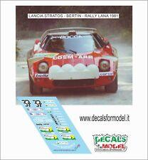 DECALS 1/43 LANCIA STRATOS BERTIN RALLY LANA 1981