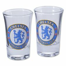 Chelsea F.C. 2pk Shot Glass Set Official Merchandise NEW