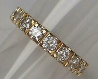 Ring  585 Gold mit 9 Brillanten Diamanten 1,0 ct. .