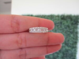 ".50 CTW Diamond Half Eternity Ring 18k White Gold JS32R sep ""SP"""