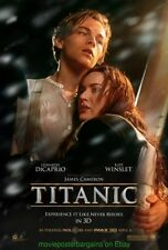 TITANIC 3D MOVIE POSTER Original DS 27x40 R2012 LEONARDO DICAPRIO KATE WINSLET
