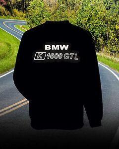 BMW  K1600 GTL Luxury Sweatshirt  Front and Back Logo >>>BLACK.. K 1600 GTL  BMW