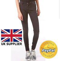 Adidas Neo Jeans Womens Skinny Jeans Dark Grey Denim Size 31/30 New Jeans