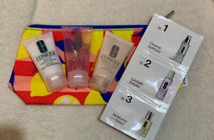 CLINIQUE Skin Care Set Soap, Exfoliating, Mask Moisturiser Beauty Bag