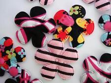 60 Hot Pink/Black Floral Color Cotton Print Flower Applique/bow/craft/trim H519