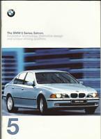 BMW 5 SERIES SALOON 520iSE, 523iSE, 528iSE, 535i, 540i & 525tds SE BROCHURE 1997