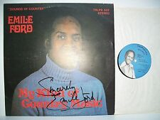 """12"""" VINYL LP. Sounds of Country by Emile Ford. SIGNED. TRLPS 007. TRANSDISC REC."""