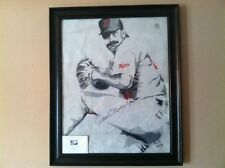 Jack Morris Signed Autograph Hand Painted Portrait World Series Game Used Roof!