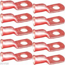 10 PACK 4ga Gauge 5/16 Ring Terminal golf cart car Battery cable wire COPPER lug