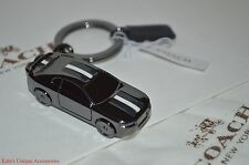 COACH METAL CAR KEY FOB KEYRING KEYCHAIN F64255 GIFT BOX DUST BAG NWT Authentic