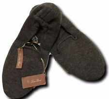 900$ Loro Piana Brown Baby Cashmere Slippers Size Large Made in Italy