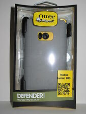 New Otterbox Defender Case & Holster for Nokia Lumia 900 Gray/Yellow (77-19661)