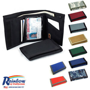Made in USA Rainbow of California Trifold Mens Unisex Wallet Water Resistant