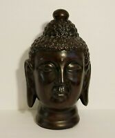 "Meditating Buddha Head Figurine  Home Decor 13"" Tall"