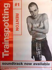 TRAINSPOTTING (1996) ORIGINAL SET OF 5 SOUNDTRACK MOVIE POSTERS  -  ROLLED