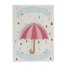'Sorry to hear you're under the weather' Get well soon card with wooden keepsake