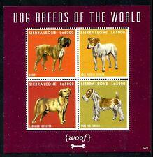 Sierra Leone 3155 MNH 2012  Dogs  Boxer Labrador Terrieri x16701