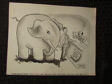Vintage Charles Chas Sage 8x10 One Panel Gag Original Art Wash ELEPHANT