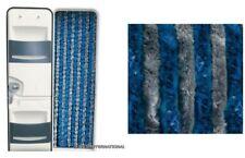 TEN2102 Tenda ciniglia grigio/blu 56x200  Ingresso Camper mosche zanzare porta