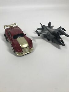 Job Lot Ironman Transformers Car and Jet Marvel