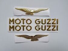 moto guzzi logo sticker 3d Legshield side badges decal sticker moto guzzi gold