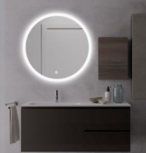 """LED Backlit Illuminated Mirror 36"""". Wall Mounted for Bathroom, Makeup."""