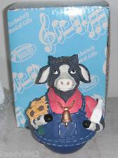"The San Franciso Music Box Co. ""Old Macdonald Had A Farm"" Revolving Musical Cow"