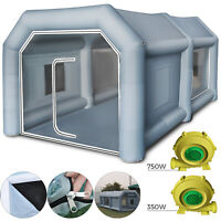 4x2.5x2.2m Inflatable Spray Booth Paint Tent Mobile Portable Car Workstation AU