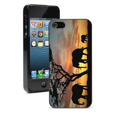 For Apple iPhone X SE XS Max XR 6s 7 8 Plus Hard Case Cover 40 Elephant Sunset