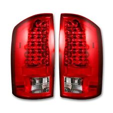 RECON 264171RD Dodge 02-06 RAM 1500 03-06 RAM 2500/3500 Red-Red Tail Lights LED