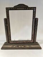 Antique Vintage Wooden Standing Swivel / Tilt Frame for 5x7 Size Photos or Art