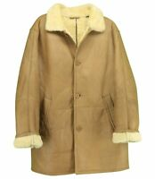 Vintage Men's Shearling Marlboro Man Sheepskin Leather Coat Jacket Size XL