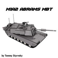 Custom Lego RC M1A2 Abrams MBT Main Battle Tank MOC Motorized w/ Power Functions