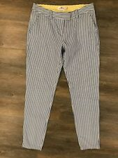 Vineyard Vines 4 100% Cotton  Women's Seersucker Blue White Yellow Striped Pant