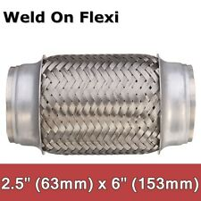 Exhaust Flex Pipe Stainless Steel 2.5'' x 6'' Weld On Flexible Joint Repair Tube