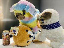 Set Of 3 Amuse Collection 16� Bulldog, Shiba Industry Gold, And Rainbow Bulldog