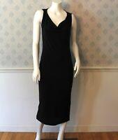 Women's Dolce Gabbana Designer Black Cowl Neckline Dress