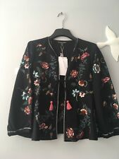 ZARA New  Embroidered Sequinned  Jacket Size M Uk 10 Genuine