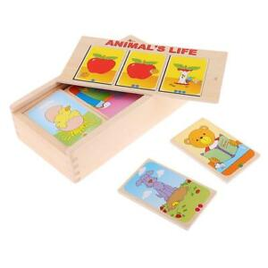 Montessori Materials Wooden Card Set for Children Story Telling Picture Toys