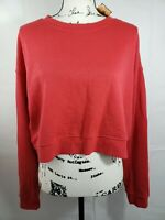 Wild Fable Womens Crewneck Cropped Top Sweater Red Size XXL