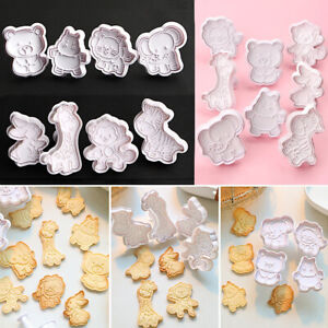 Sugar Baking Embosser Die Cookie Cutter Animal Series Plastic Biscuit Mold
